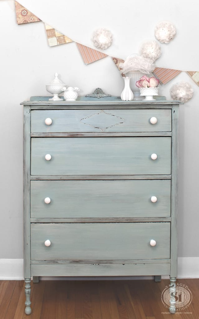 Layered Milk Painted Dresser