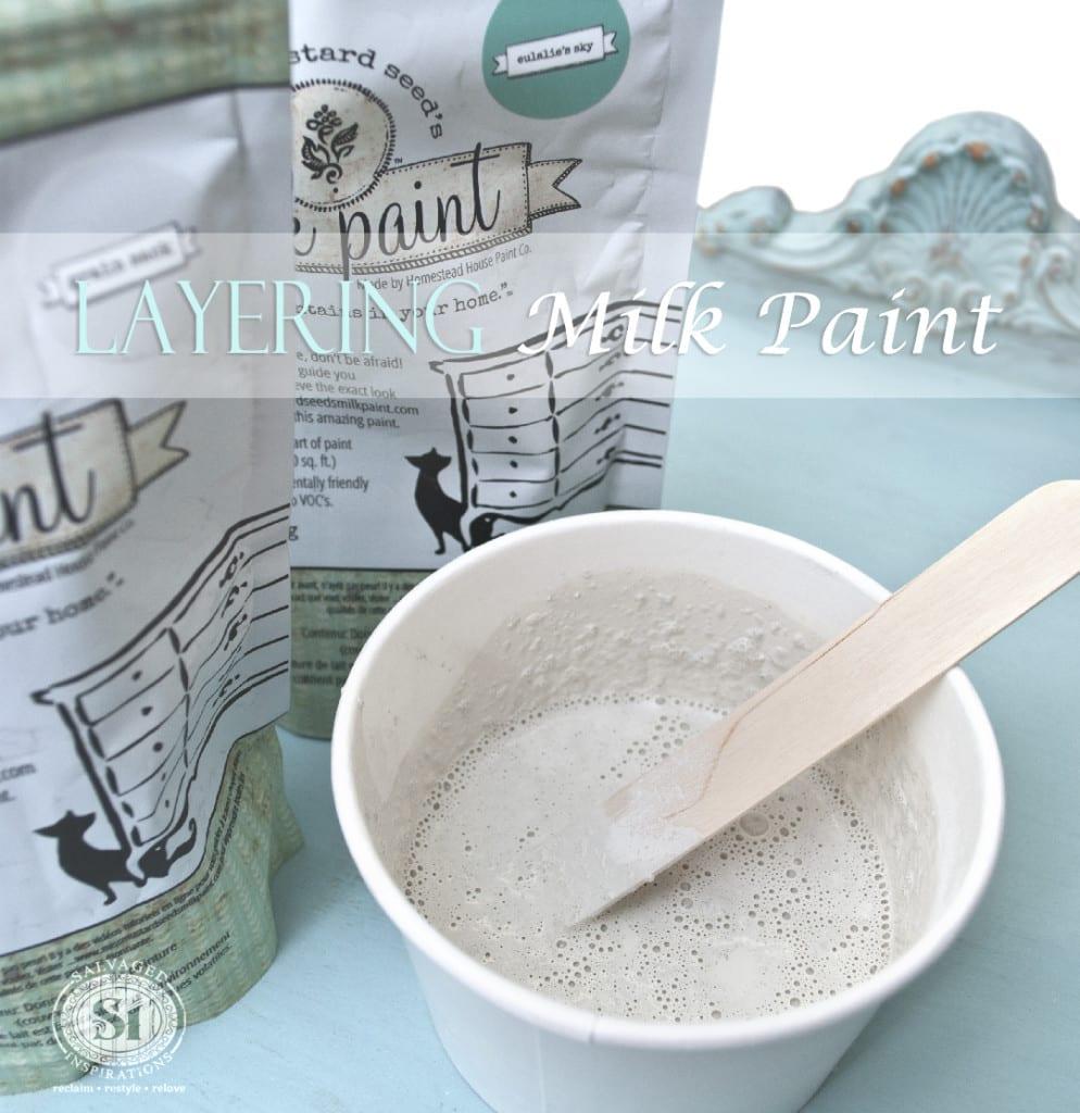 Layering Milk Paint - Vintage Dresser Restyle