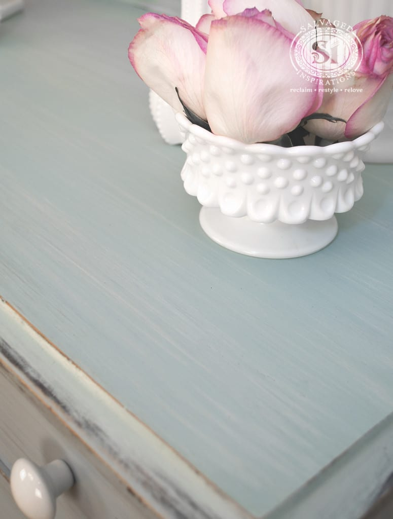 MMS Milk Painted Dresser Top - Layer-Washed