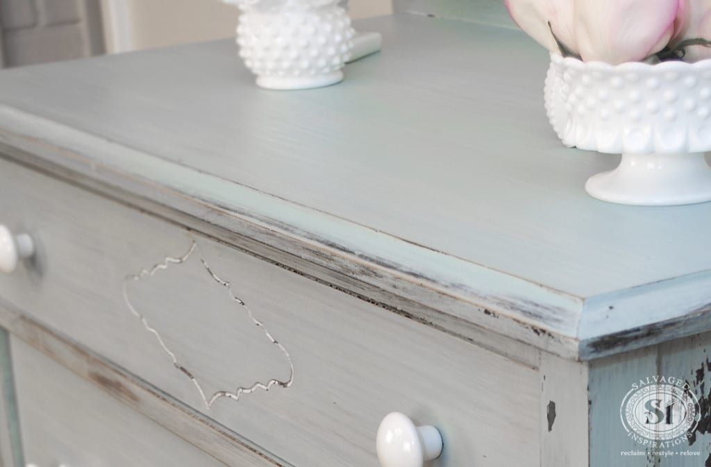 Vintage Dresser w Layered Milk Paint Technique
