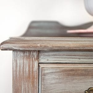 Wash and Dry Brush Technique on Antique Dresser