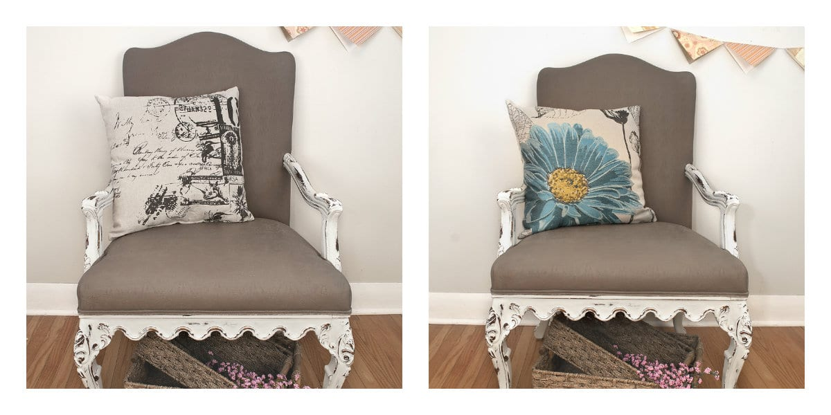 Painting Fabric With Chalk Style Paints: Granny Chair Makeover   Salvaged  Inspirations