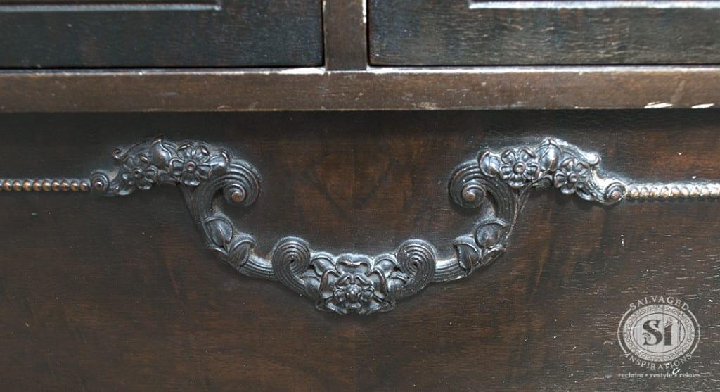 Antique Dresser Floral Details