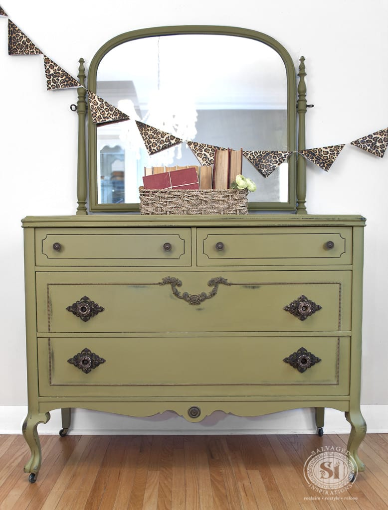 Antique Dresser - Holy Guacamole Dixie Belle Paints1