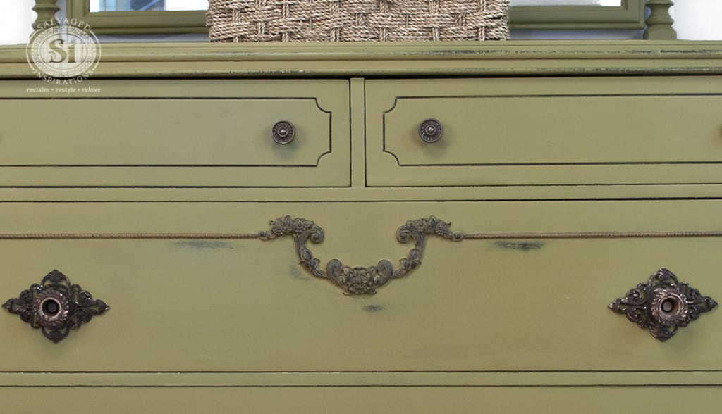 Antique Painted Dresser Front