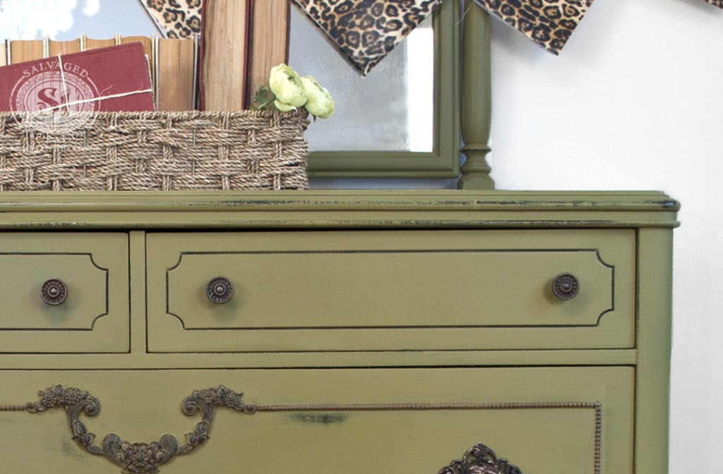 Painted Antique Dresser - Holy Guacamole