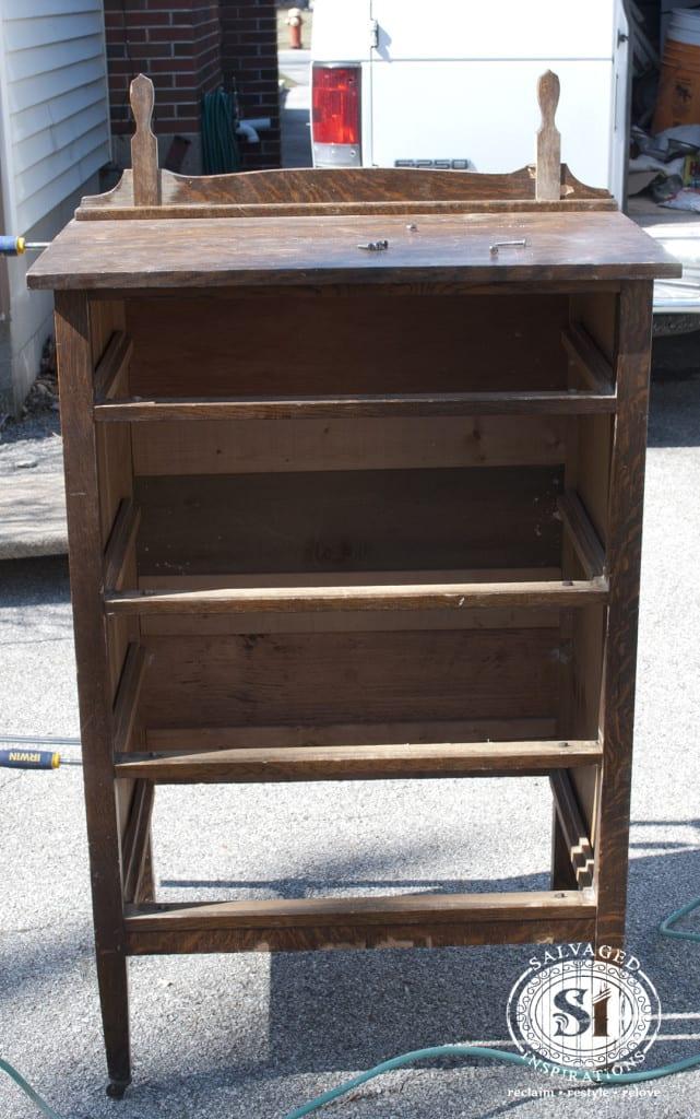Repaired Dresser Top