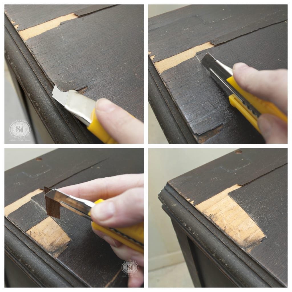 Repairs to Chipping Veneer - Dresser