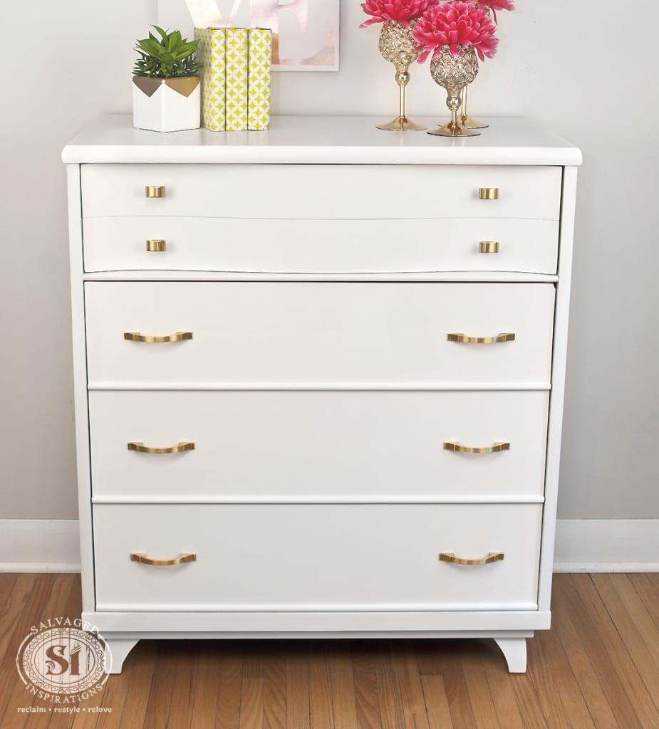 White Painted Kroehler Dresser