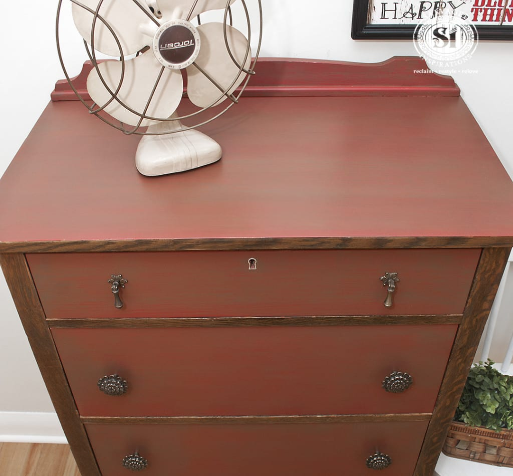 Barn Red Dresser Top