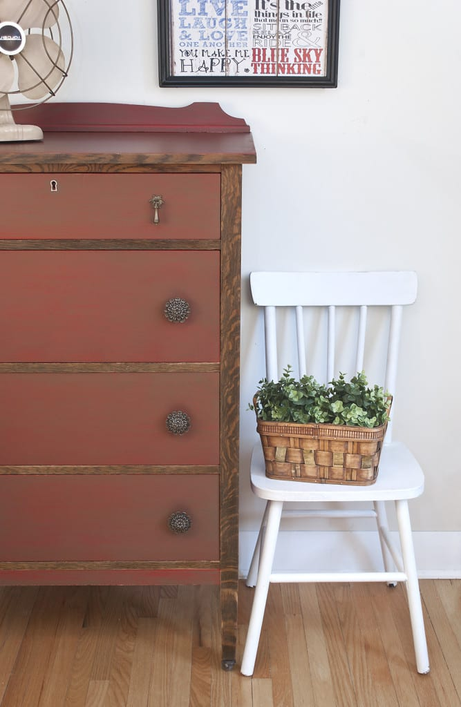 Farmhouse Chic Vintage Dresser - Painted & Glazed