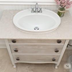 Old Dresser turned Vanity Sink