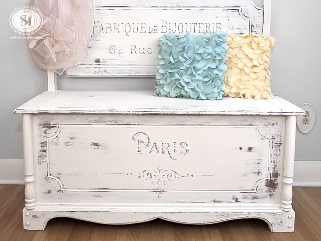 Paris Stenciled Bench