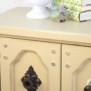 Side Table Painted w Benjamin Moore Mustard