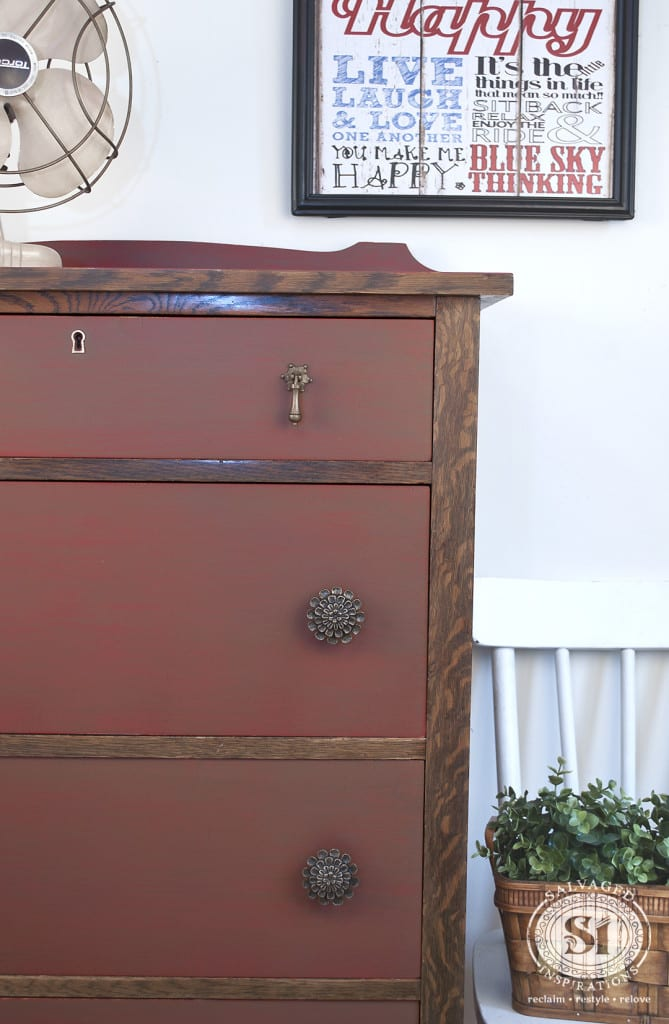 Vintage Farmhouse Chic Dresser - Painted & Glazed