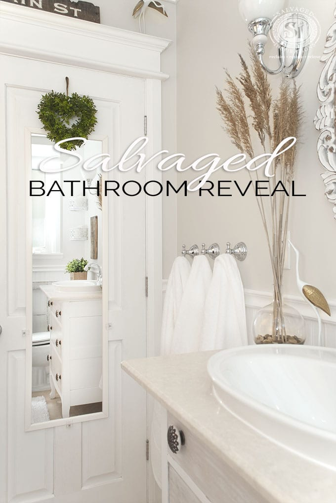 Salvaged Bathroom Reveal - Salvaged Inspirations