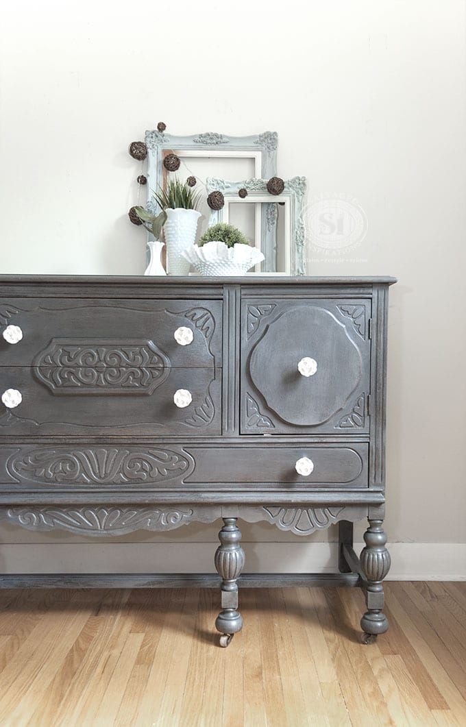 Driftwood General Finishes Painted Buffet1