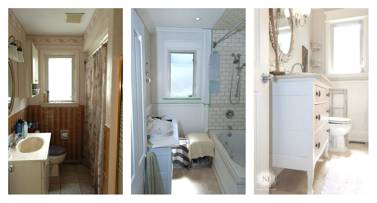 Salvaged Bathroom Restyle Before&After