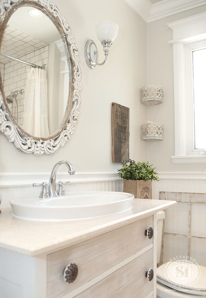 Salvaged Bathroom Restyle