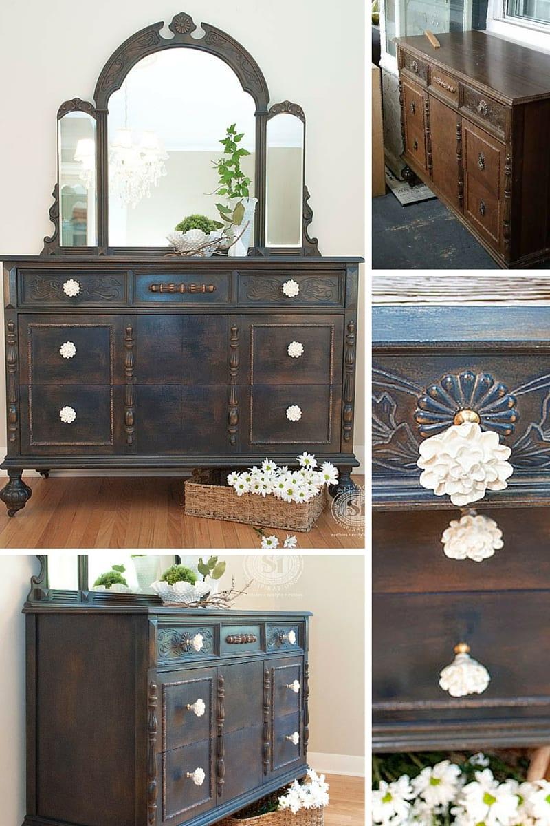 Coastal Blue Vintage Dresser
