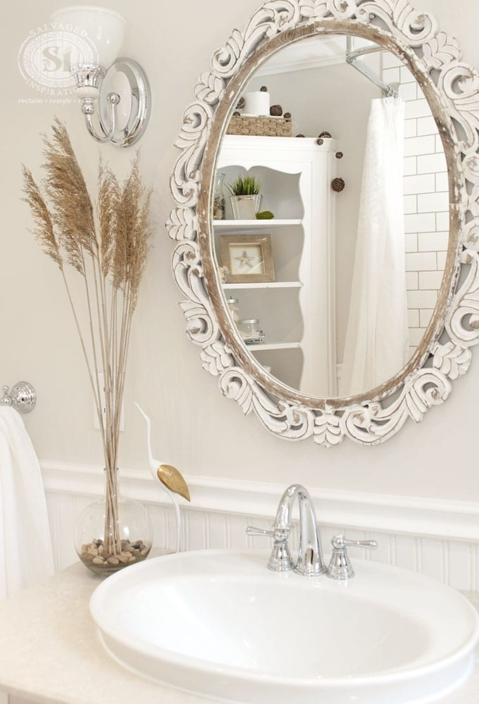 sink and bathroom mirror