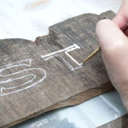 Painting Main St Pallet Sign