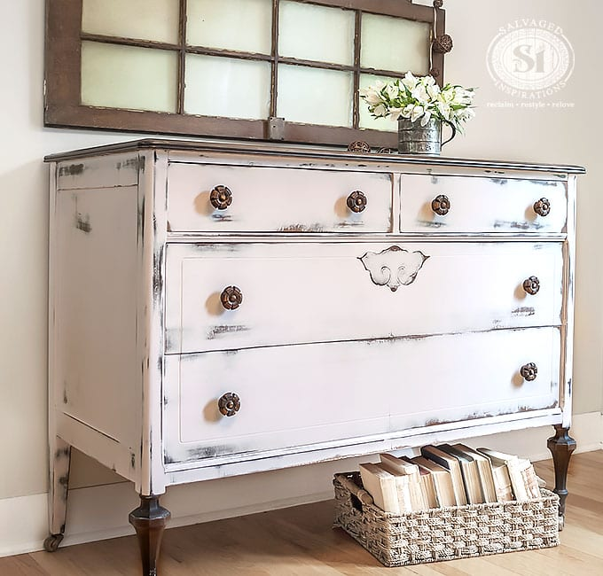 Pretty In Pink Farmhouse Chic Dresser2