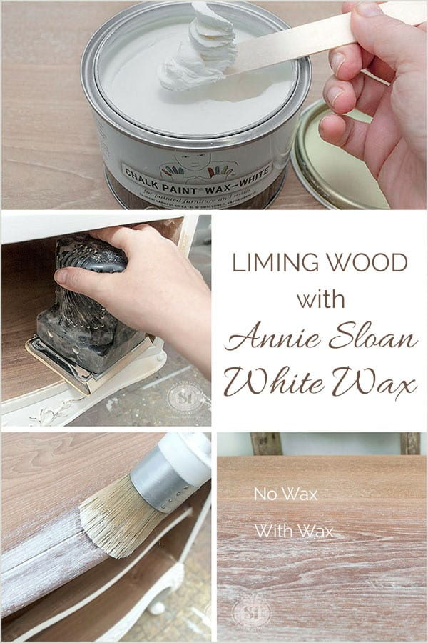 Liming Wood w Annie Sloan White Wax Tutorial