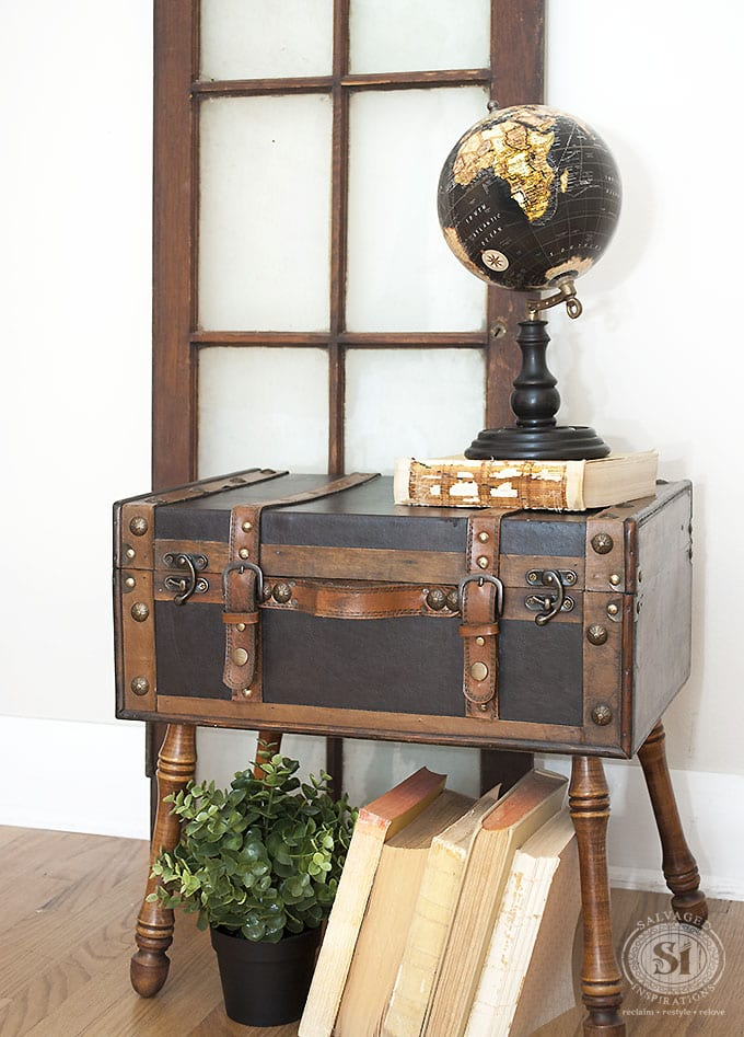 Andreas Salvaged Trunk w Globe