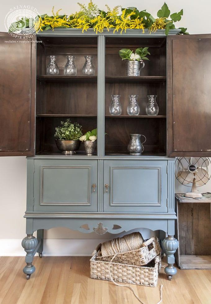 Barn Door Painted Cabinet