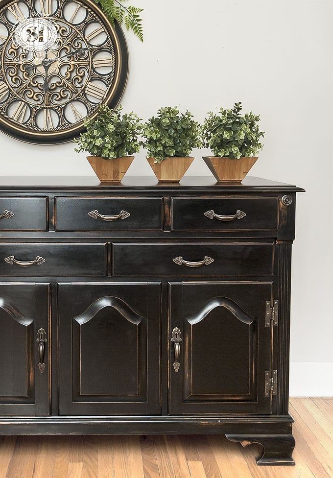 Buffet Easy Diy Pottery Barn Black Painted Finish
