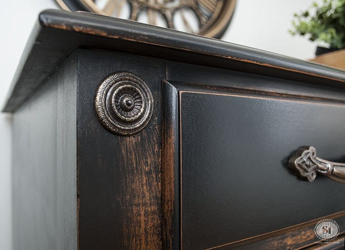 Distressed Pottery Barn Black Finish