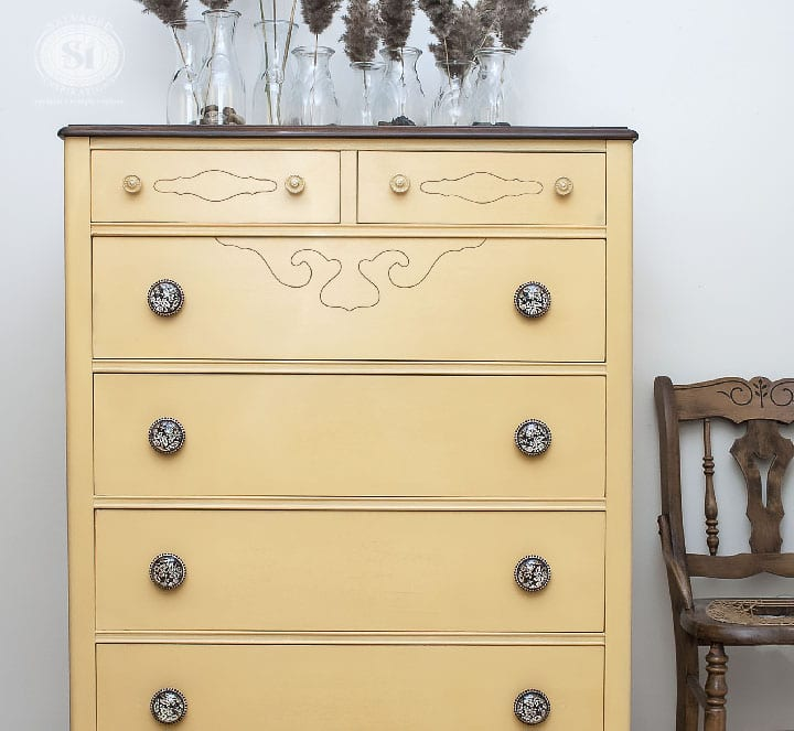 Lovely Miss Mustard Seed | Mustard Seed Yellow - Salvaged Inspirations RE92