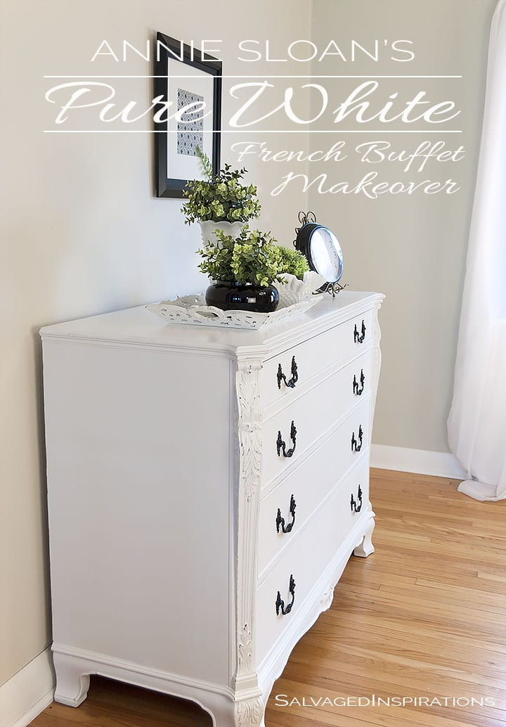 Pure White Chalk Painted French Buffet