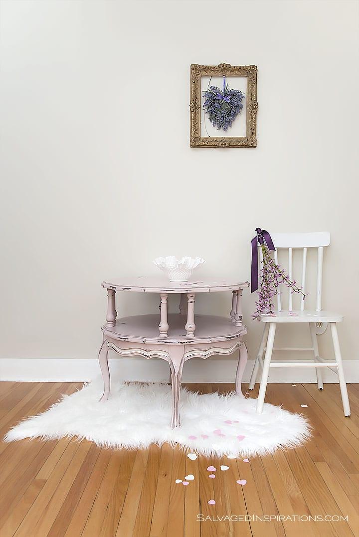 Annie Sloan Antoinette Table w Black Wax