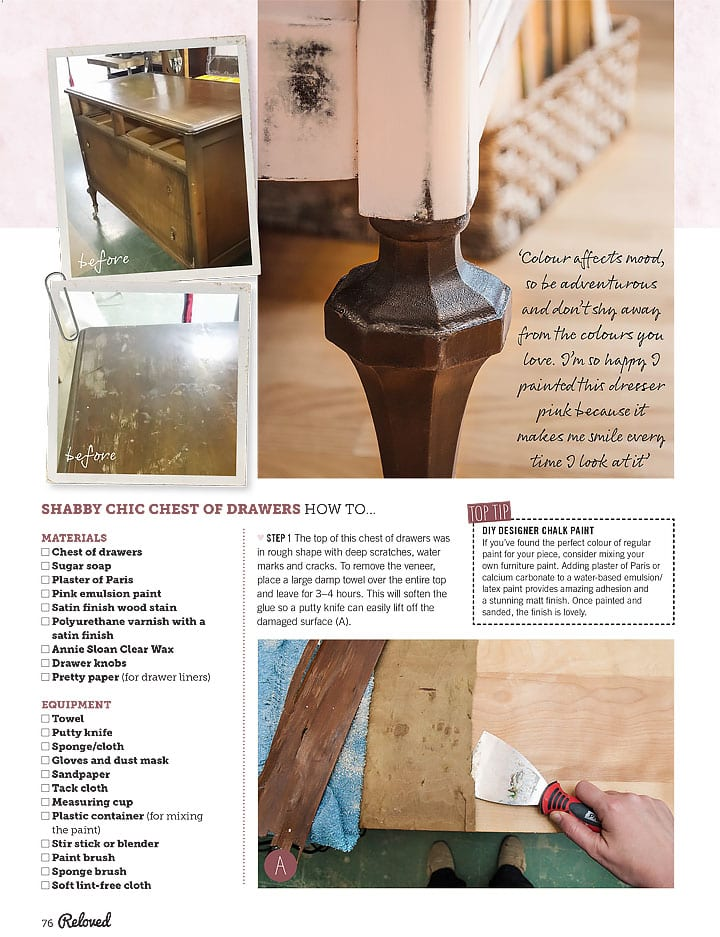 Salvaged Inspirations Reloved Feature Pg 76