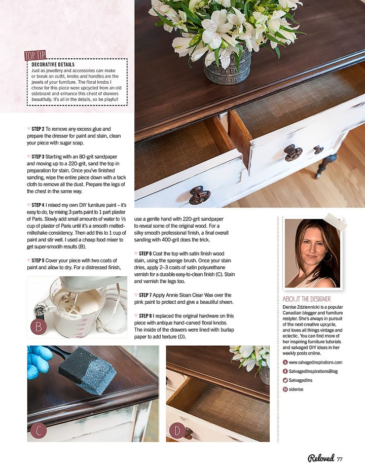 Salvaged Inspirations Reloved Feature Pg 77