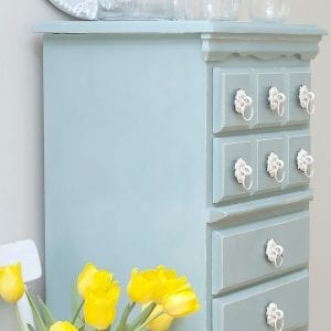 Annie Sloan Duck Egg Chalk Painted Lingerie Chest