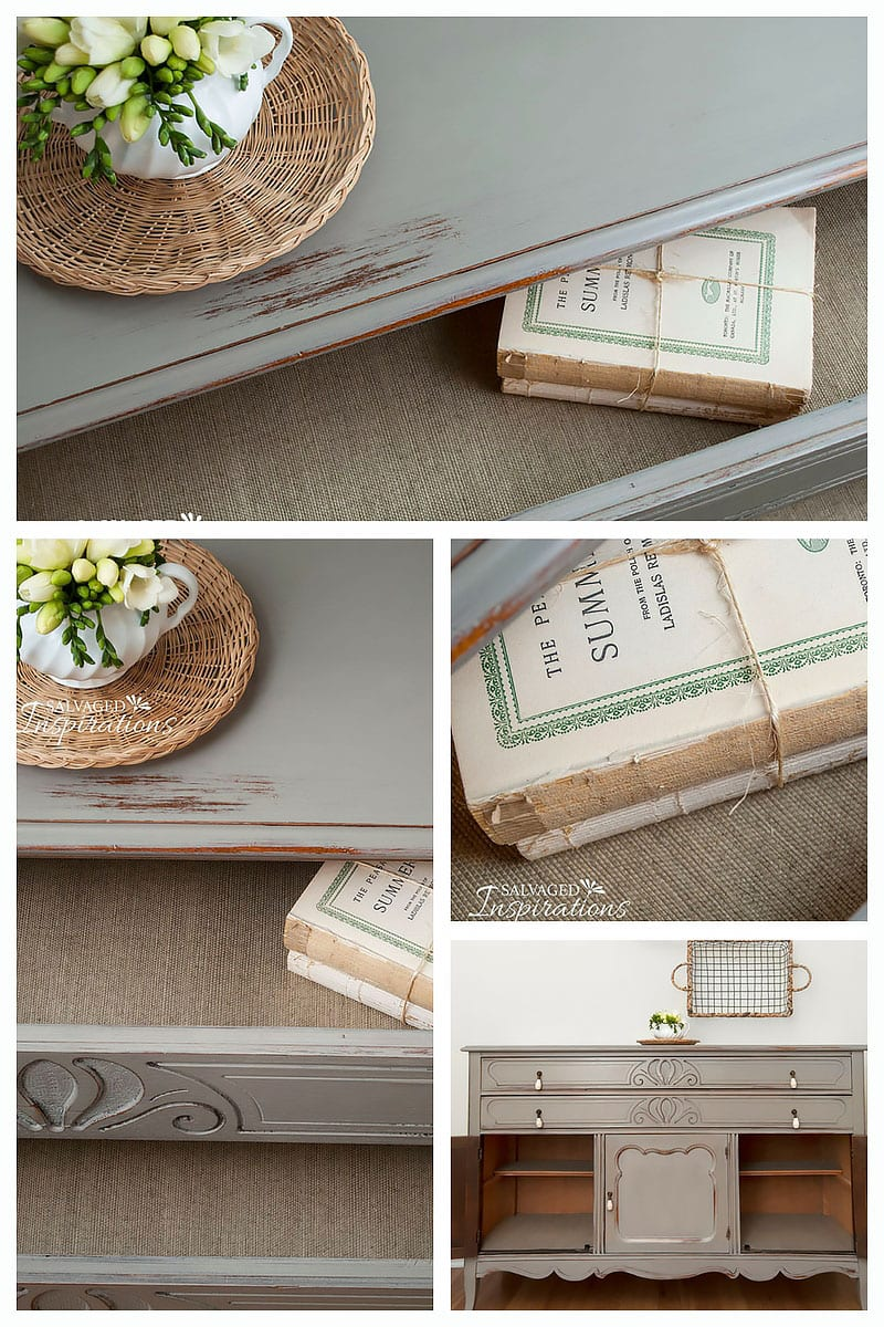 French Linen Painted Buffet - Lined Drawers