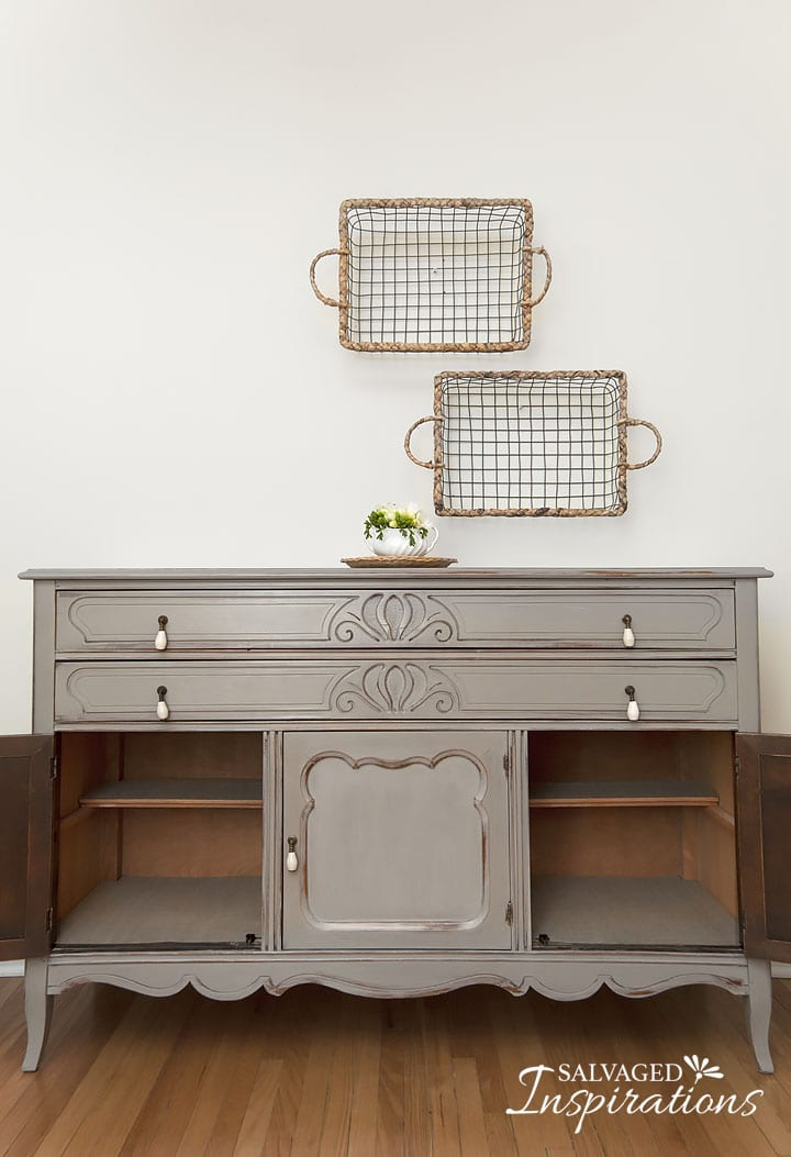 To Give This Buffet/sideboard An Elegant U0027french Countryu0027 Look, I Wet  Distressed The Top, Around The Edges, Drawers And Doors. LOVE It!