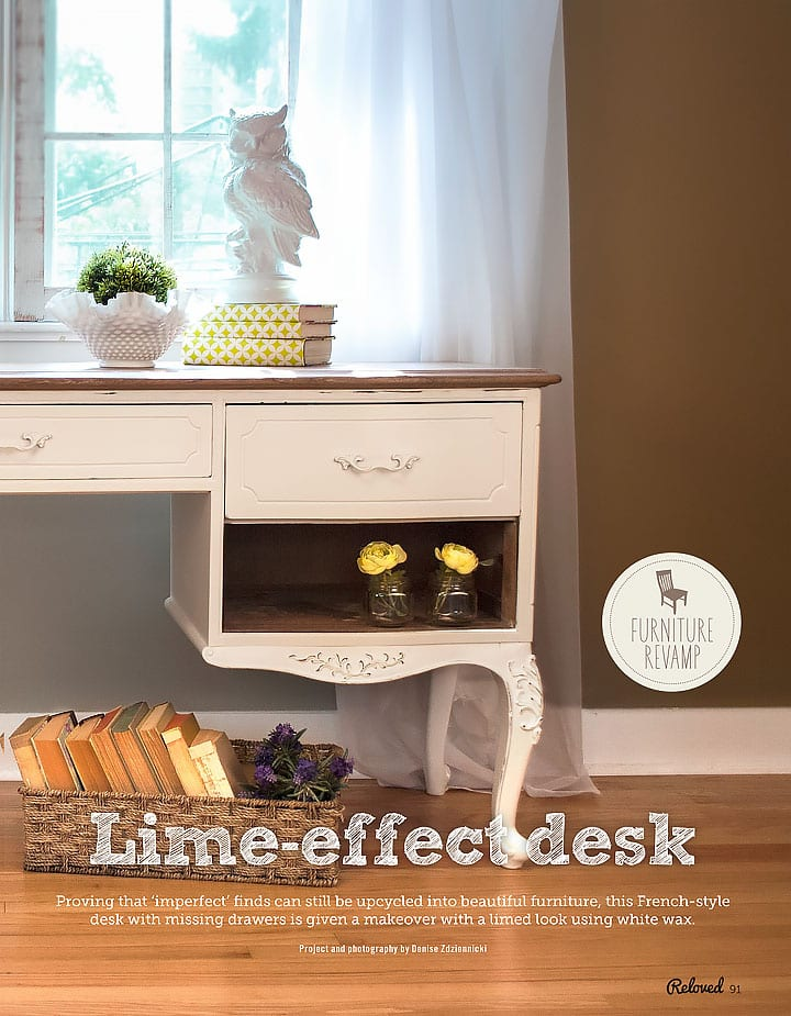 Lime Effect Desk Salvaged Inspirations in ReLoved Mag