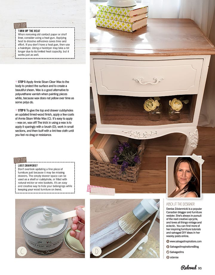 Limed Desk Salvaged Inspirations Feature in ReLoved Mag