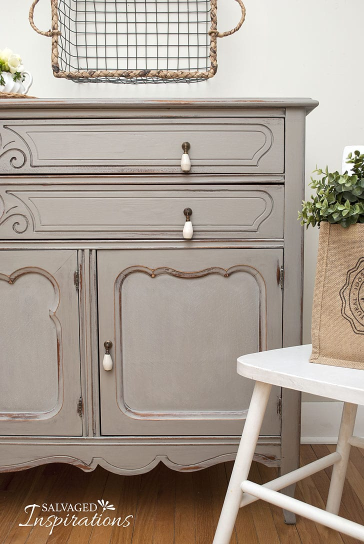 Thrift Store Sideboard + Chair