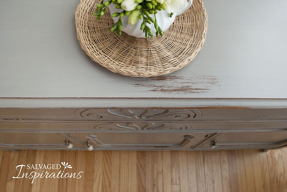 Wet Distressed Buffet Top
