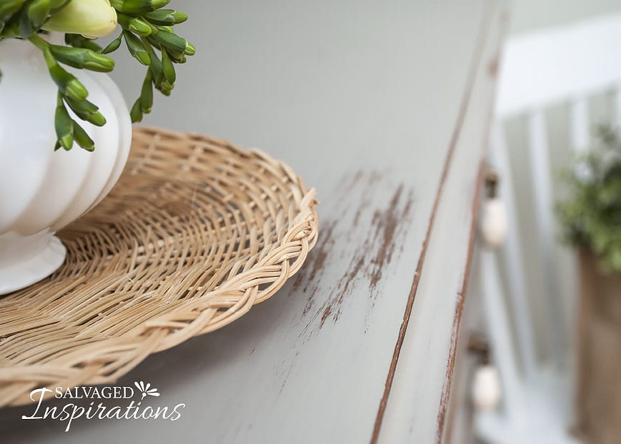 Wet Distressed Chalk Painted Buffet