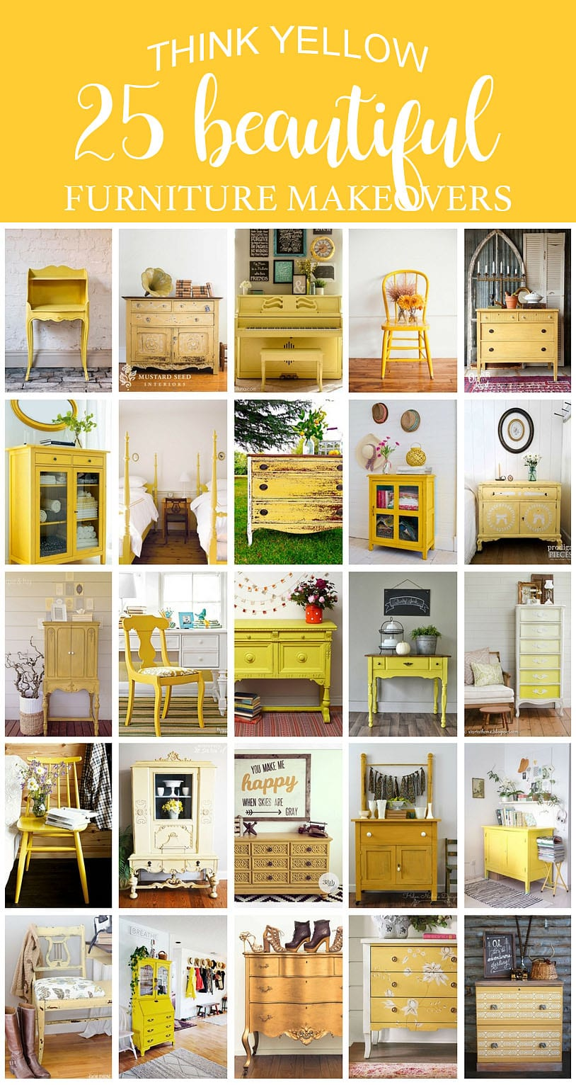 25 Beautiful Think Yellow Furniture Makeovers - SIBlog