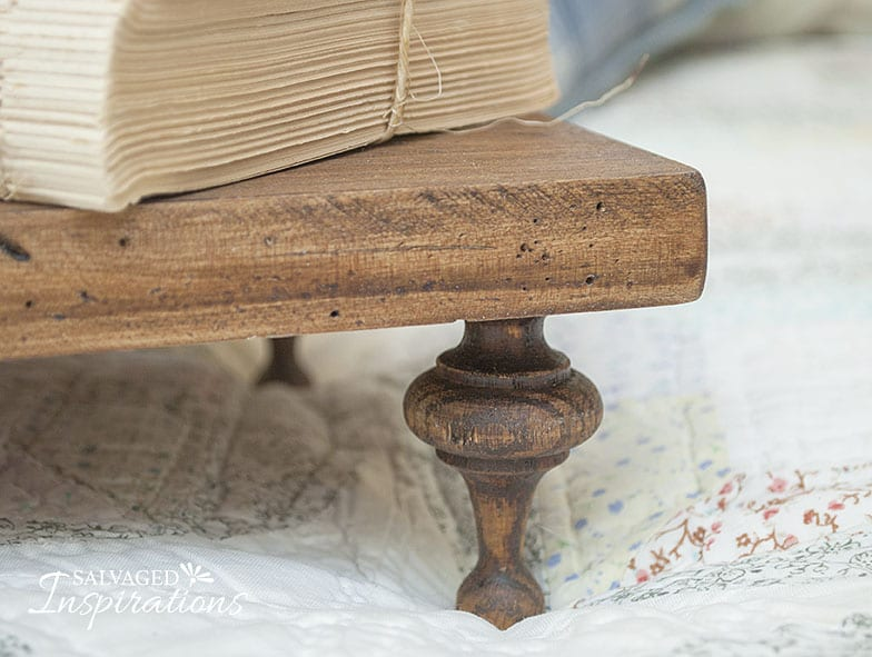 Close Up of Antique Wood Display Riser