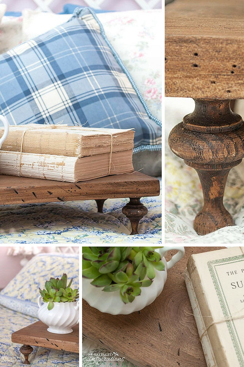 DIY Reclaimed Wood Tray-Riser Collage