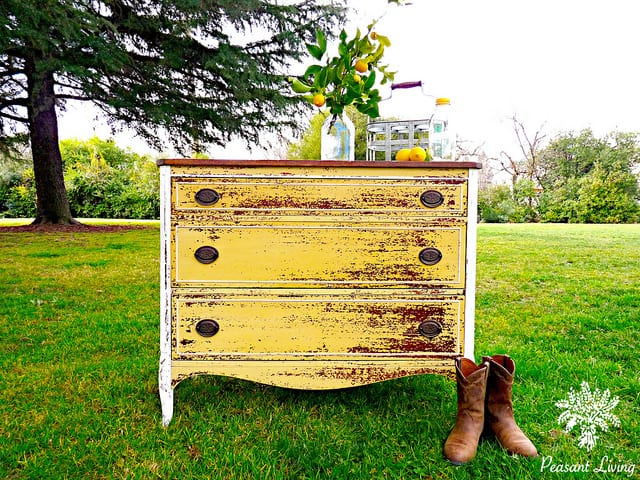 Think Yellow | 25 Beautiful Furniture Makeovers - Salvaged ...