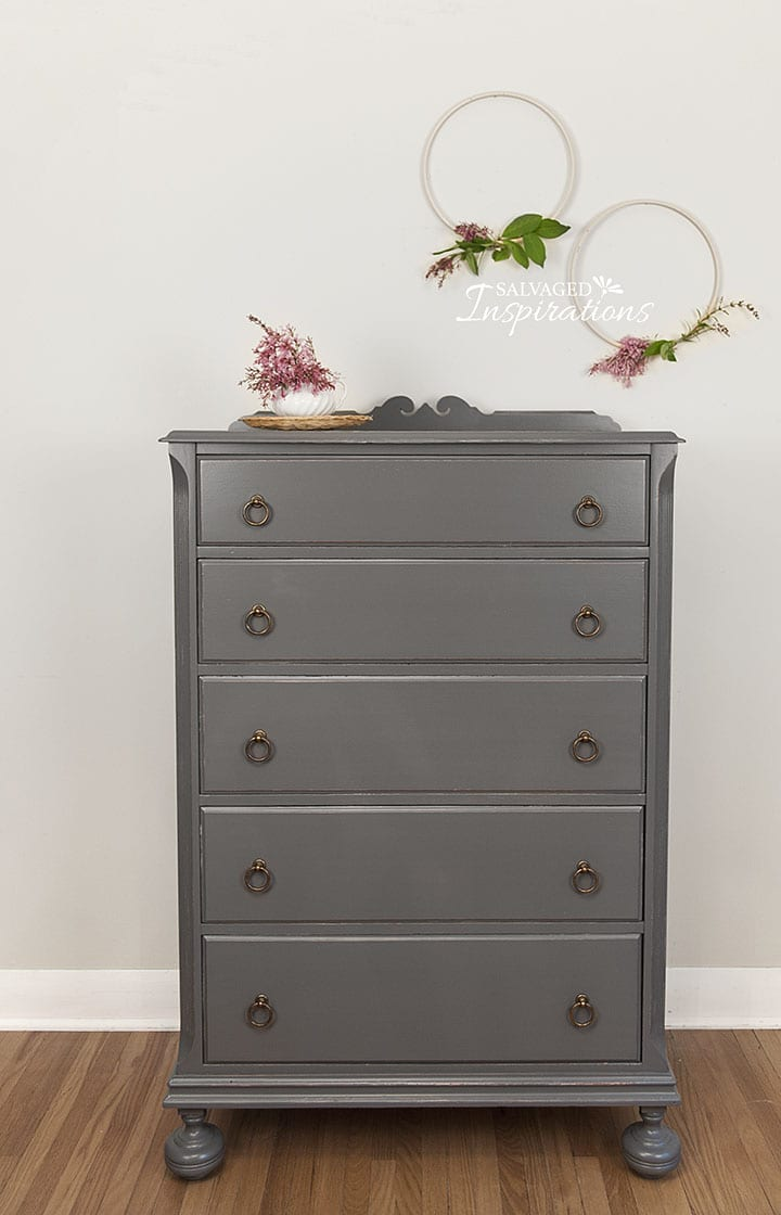 Alligator Finish Dark Gray Dresser1